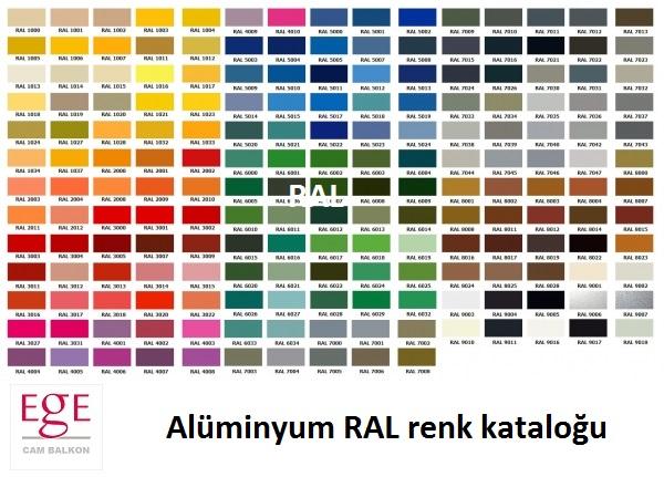 alüminyum ral renkleri kataloğu