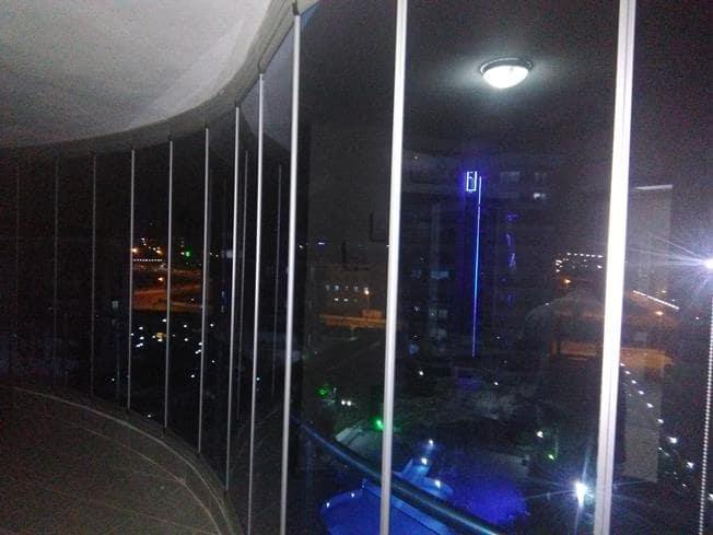 kavisli cam balkon uygulaması